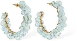 Simone Rocha Medium Wiggle Crystal Hoop Earrings