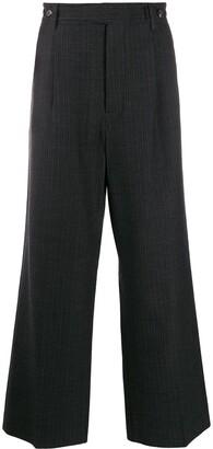 Marni Wide Leg Tropical Wool Trousers