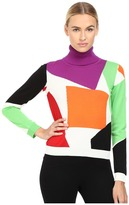 Moschino Color Block Turtleneck Sweater Women's Sweater