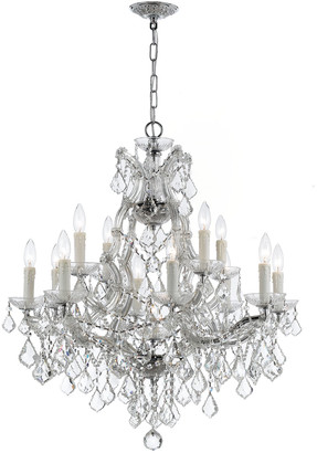 Swarovski Crystorama Maria Theresa 13-Light Elements Crystal Chrome Chandelier