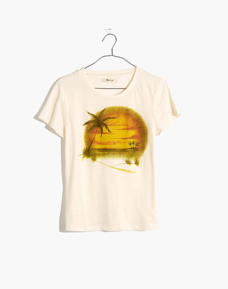 Madewell Airbrushed Souvenir Graphic Lo-Fi Shrunken Tee