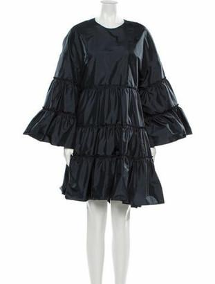 Chloé Crew Neck Knee-Length Dress Grey