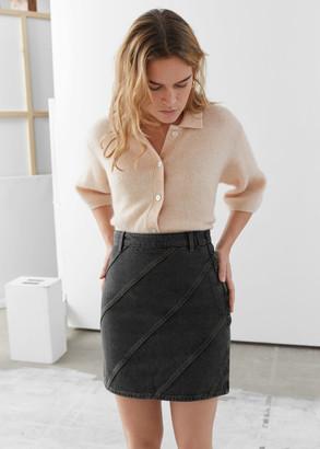 And other stories Organic Cotton Denim Mini Skirt