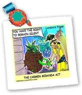 3dRose LLC qs_2129_1 Londons Times Funny Music Cartoons - Carmen Miranda Act - Quilt Squares
