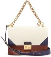 Fendi Kan U Leather Cross-body Bag - Womens - Cream Multi