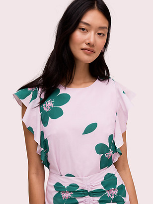 Kate Spade Grand Flora Open Back Top