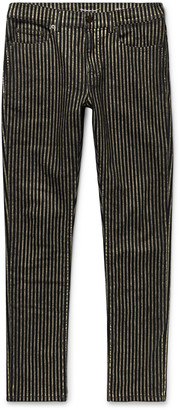 Saint Laurent Nightrider Skinny-Fit Striped Stretch-Denim Jeans