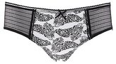 Charlotte Russe Striped Mesh Printed Panties