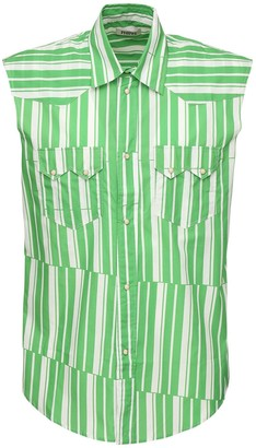 Phipps Striped Cotton Poplin Sleeveless Shirt