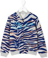 Kenzo tiger print bomber jacket - kids - Cotton/Polyester - 2 yrs