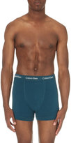 Calvin Klein Pack Of Three Stretch-cotton Trunks