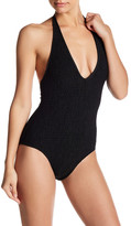 Lands' End Canvas Vertigo Smocked One-Piece