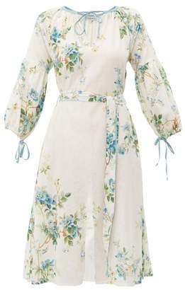 D'Ascoli Old Rose Cotton Midi Dress - Womens - Blue