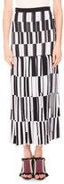 Proenza Schouler Pleated Jacquard Maxi Skirt