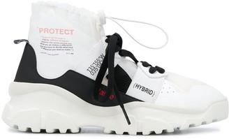F Wd High-Top Slogan Sneakers