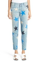 Stella McCartney Women's Star Print Crop Boyfriend Jeans
