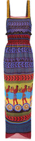 Mary Katrantzou Hemera Printed Silk-georgette Dress - Purple