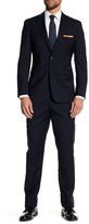 Vince Camuto Navy Notch Lapel Two Button Solid Slim Fit Wool Suit