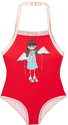 Little Marc Jacobs Printed Lycra One Piece Swimsuit