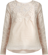 See by Chloe Lace-yoke cotton top