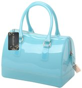 Donalworld Women Transparent Waterproof Jelly Pillow-shaped Shoulder Bag Top Handle Bag Tote