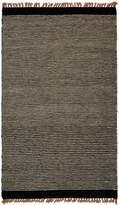 Karma Living Thin Stripe Woolen Handmade Jute and Cotton Rug
