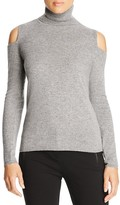 Magaschoni Cold Shoulder Cashmere Turtleneck Sweater