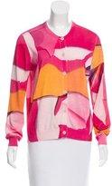 Kenzo Abstract Print Silk-Blend Cardigan w/ Tags