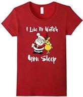 Kids I Like To Watch You Sleep Santa Reindeer Christmas Shirt 10
