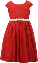 Jayne Copeland Red Cap-Sleeve Tulle Dress - Toddler & Girls