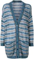 Alberta Ferretti striped buttoned cardigan