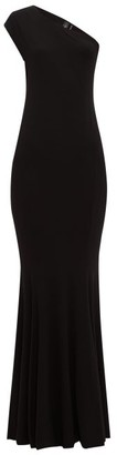 Norma Kamali One-shoulder Stretch-jersey Maxi Dress - Black