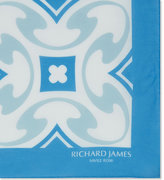 Richard James Deco Tile Cotton Pocket Square
