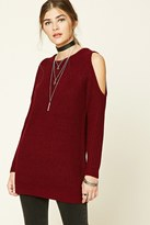 Forever 21 FOREVER 21+ Longline Open-Shoulder Sweater
