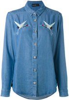 The Kooples birds embroideries denim shirt - women - Polyester/Lyocell - XS