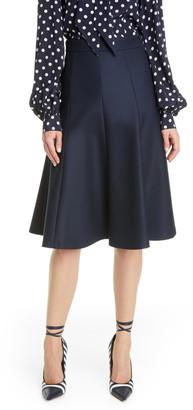 Michael Kors Flare Stretch Wool Skirt