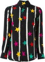 Saint Laurent Paris collar star print shirt
