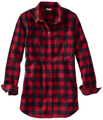 L.L. Bean Women's Scotch Plaid Flannel Shirt, Tunic