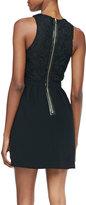 Ali Ro Jewel-Neck Cutout Dress