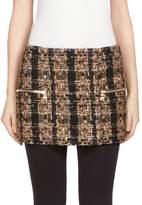 Balmain Women's Tweed Mini Skirt