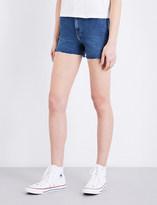 Calvin Klein High-rise Cut-off denim shorts