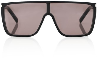 Saint Laurent SL 364 Mask flat-brow sunglasses