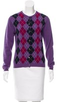 Burberry Wool Argyle Print Cardigan