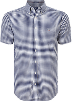 Gant Poplin Gingham Short Sleeve Shirt, Persian Blue
