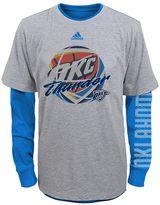 adidas Boys 8-20 Oklahoma City Thunder Cage Option Combo Tee Set