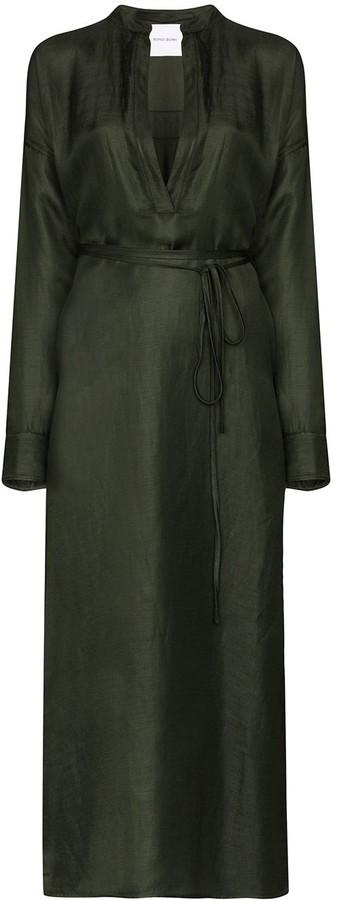 BONDI BORN Notched-Neck Maxi Dress