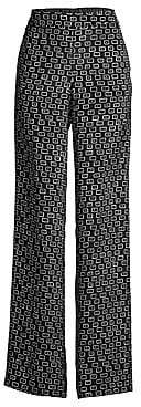 Lafayette 148 New York Women's Columbus Piazza Print Wide-Leg Pant