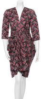 Thakoon Printed V-Neck Dress