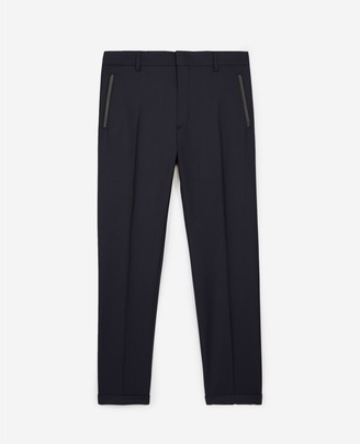 The Kooples Slim-fit navy blue suit trousers in wool