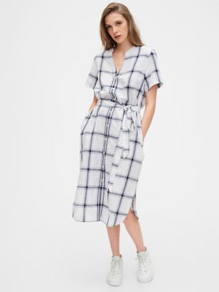 Gap Midi Shirtdress in Linen-Cotton